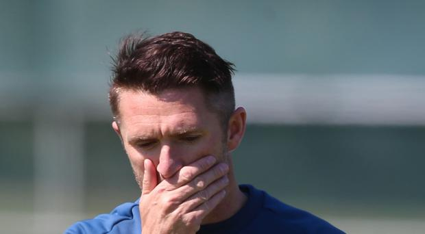 Republic of Ireland skipper Robbie Keane will decide if he is able to face Scotland