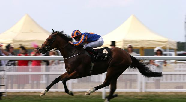Gleneagles running out an emphatic winner of St James's Palace Stakes at Royal Ascot