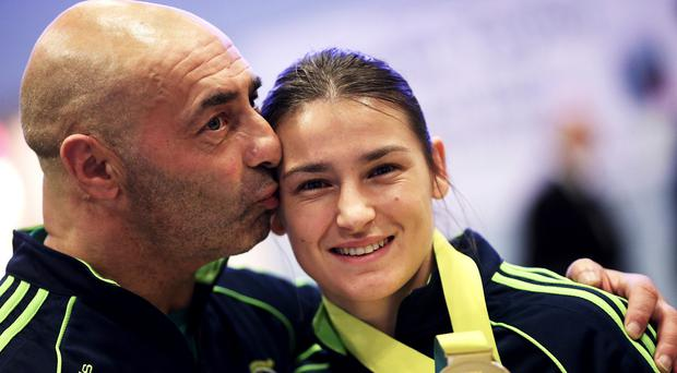 Katie Taylor won her first bout at the European Games in Baku on Sunday