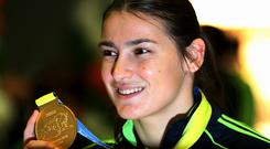 Katie Taylor has booked her place in the final of the women's lightweight boxing final in Baku