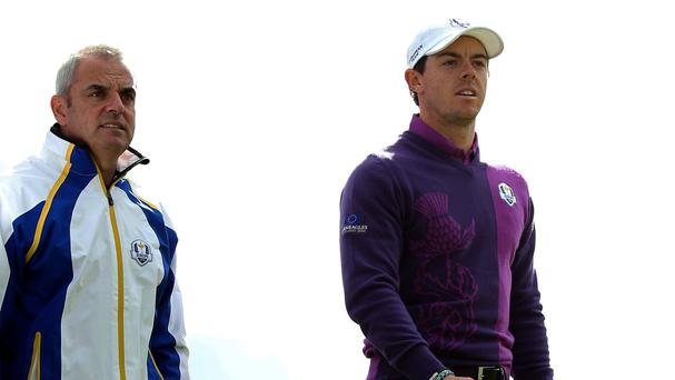 Paul McGinley and Rory McIlroy