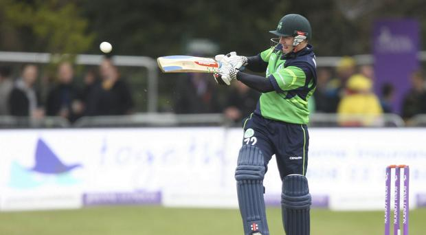 Ireland recovered from the early loss of Niall O'Brien to beat the USA in their latest World Twenty20 qualifier in Belfast.