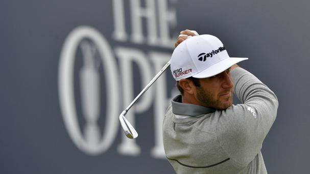 Dustin Johnson leads by one shot after the first round of the Open Championship at St Andrews