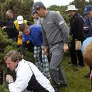 Padraig Harrington's Open chances were lost along with his ball in a gorse bush