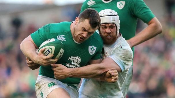 Cian Healy, left, is still battling neck trouble as Ireland approach their World Cup warm-up matches