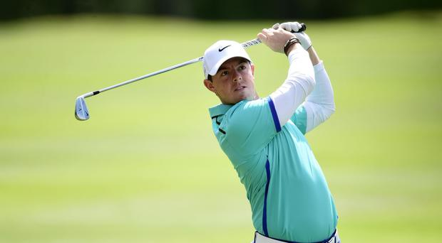 Rory McIlroy appears to be recovering well from his ankle injury