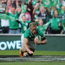Luke Fitzgerald has been selected in midfield in the Ireland team to face Wales