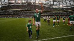 Paul O'Connell could not leave the Aviva Stadium with a victory