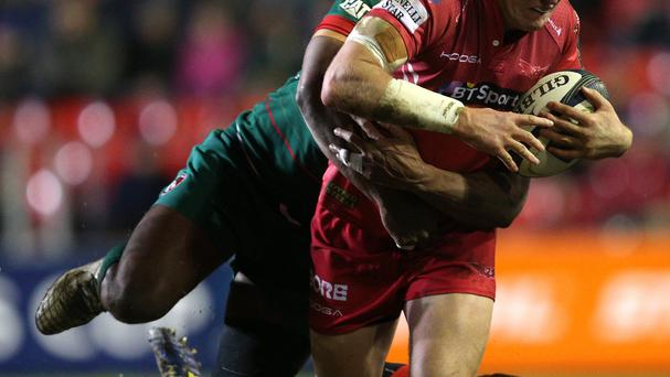 Hadleigh Parkes scored the only try for the Scarlets