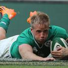 Luke Fitzgerald, pictured, has been backed to force his way into Ireland's regular starting line-up