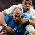 Ireland believe Sergio Parisse, centre, could radically alter the size of the challenge of facing Italy - if fit for the World Cup showdown