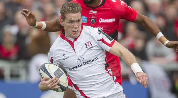 Ulster's Craig Gilroy crossed the Treviso line twice in a comfortable win