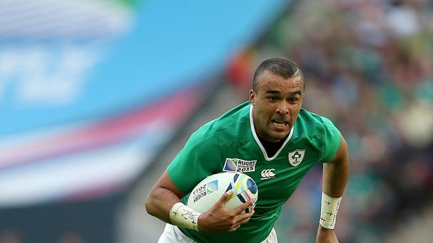 Simon Zebo, pictured, believes Ireland can match France's famed flair if required in Sunday's World Cup showdown