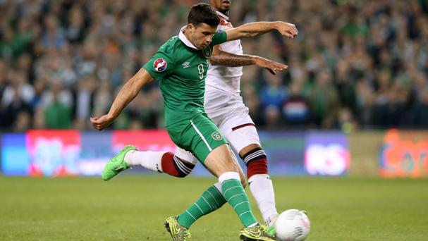 Shane Long fires the Republic of Ireland's winner