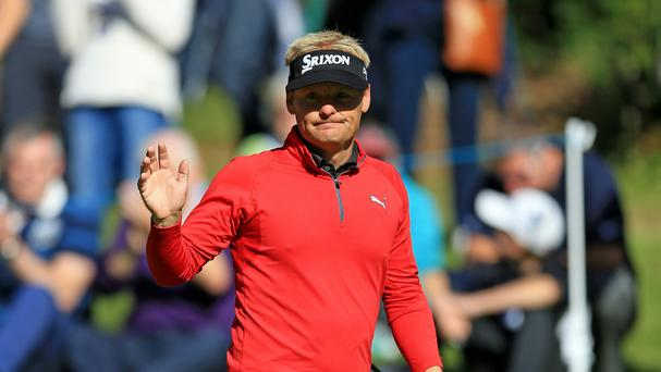 Soren Kjeldsen moved to nine under par on Friday
