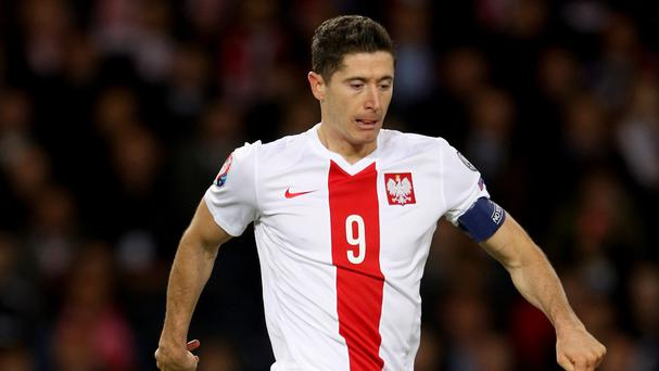 Poland defender Jakub Wawryzniak believes striker Robert Lewandowski, pictured, will prove himself the best in the world