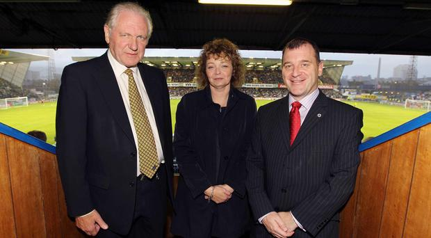 Irish FA president Jim Shaw, left, has high hopes for Northern Irish football after qualifying for Euro 2016