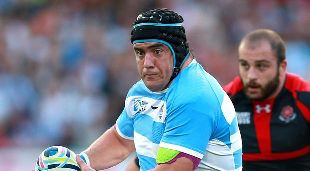 Marcos Ayerza, pictured, believes Argentina can catch Ireland out at the scrum in Sunday's World Cup quarter-final