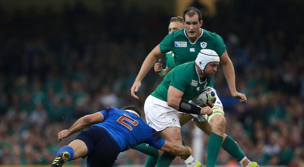 Rory Best, pictured with ball, has vowed Ireland will not repeat the scrummaging mistakes made against Italy