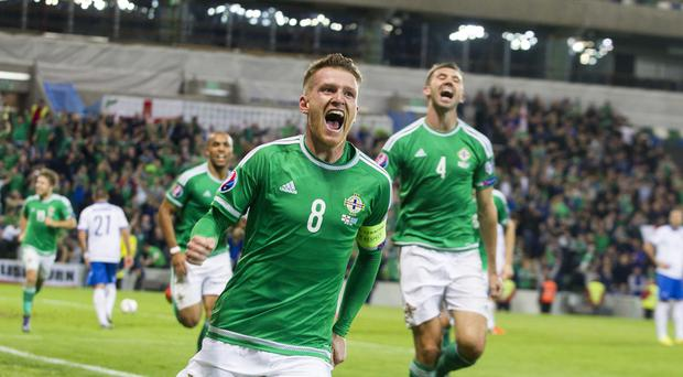 Northern Ireland's Steven Davis is unconcerned about debates over the team's new home kit