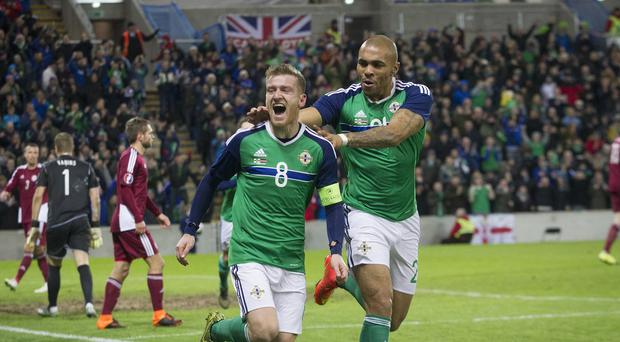 Northern Ireland's Steven Davis netted the winner against Latvia