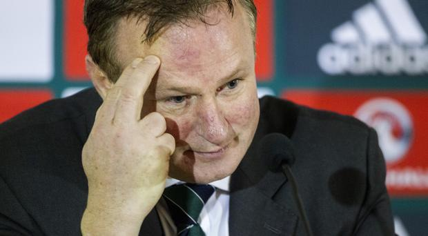 Northern Ireland boss Michael O'Neill, pictured, is eager to see Kyle Lafferty play more at club level