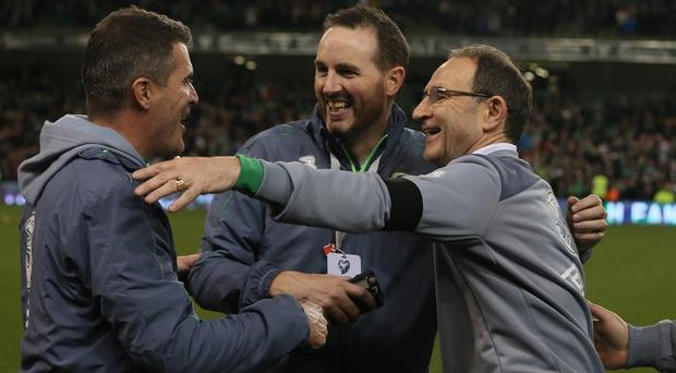 Assistant manager Roy Keane, left, is convinced the Republic of Ireland will make their presence felt in France next summer