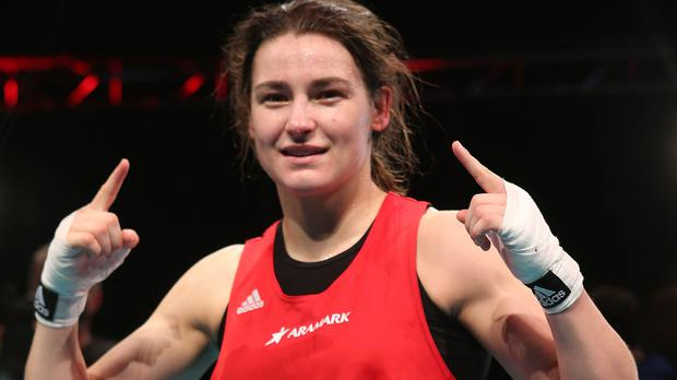 Katie Taylor faces Shauna O'Keeffe for the vacant Irish Elite lightweight title at Dublin's National Stadium on Friday.