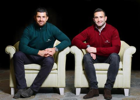 Brothers in arms: Rob and Dave Kearney are on the Leinster and Ireland rugby teams, and they share a house, play golf, hang out and own a bar together. Photo: Marc O'Sullivan