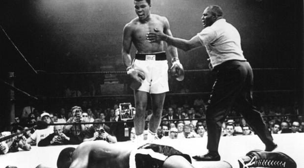 The beginning: Muhammad Ali after beating Sonny Liston in 1965.