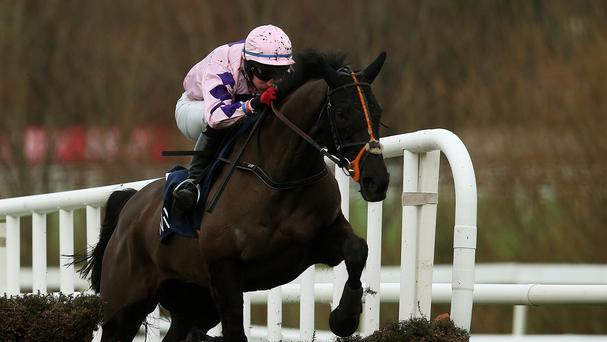 Keppols Quenn jumps the last to win at Leopardstown