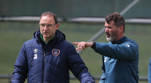 Republic of Ireland manager Martin O'Neill and assistant Roy Keane