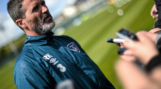 There will be many photos of Roy Keane scowling with the word 'legend' appearing nearby Photo: David Maher / Sportsfile