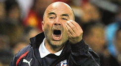 Jorge Sampaoli of Argentina, is one of only three coaches to have managed in the Champions League in the last five seasons.