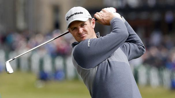 Justin Rose struggled during the opening round in San Diego