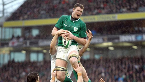 Donnacha Ryan, pictured, insists Ireland can cope without their former captain Paul O'Connell in this year's RBS 6 Nations