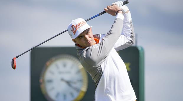 Rickie Fowler was replaced at the top of the Phoenix Open leaderboard by James Hahn