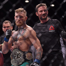 John Kavanagh with Conor McGregor; Sportsfile