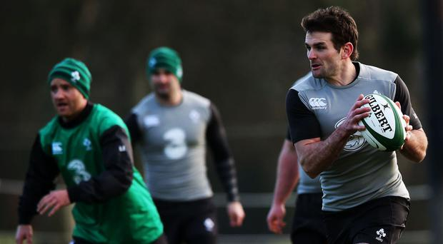 Jared Payne, right, missed Ireland's 21-10 England defeat but could return for Saturday's Dublin clash with Italy
