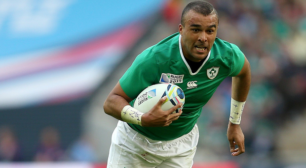 Simon Zebo in action during last year's World Cup.
