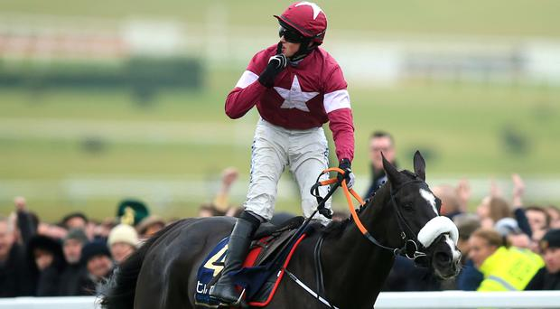 Bryan Cooper celebrates winning the Gold Cup on Don Cossack