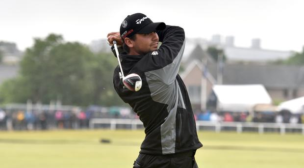Jason Day, pictured, suffered an injury scare during his win over Graeme McDowell