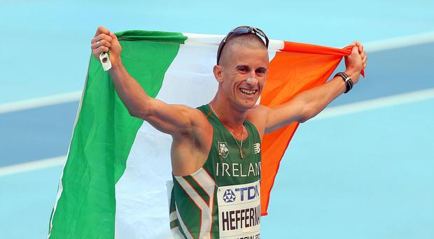 Rob Heffernan was promoted from fourth to third in the 50-km walk
