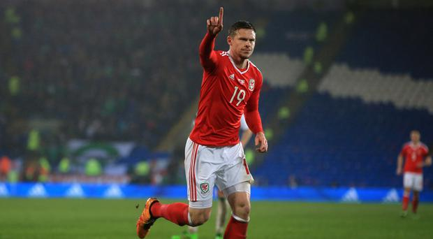 Simon Church scored a last-gasp equaliser for Wales against Northern Ireland