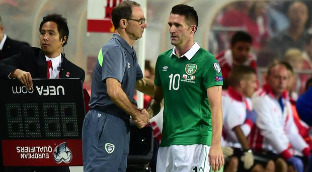 Republic of Ireland skipper Robbie Keane, right, is looking for answers over his niggling knee problem