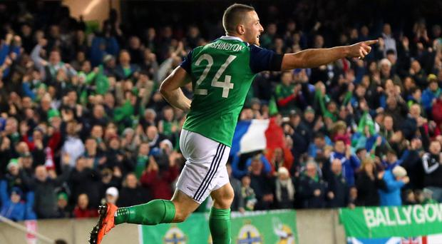 Conor Washington scored his first international goal