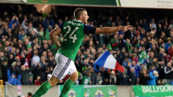 Conor Washington scored on his home debut for Northern Ireland