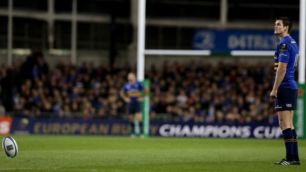 Johnny Sexton bagged all Leinster's points in victory over Munster
