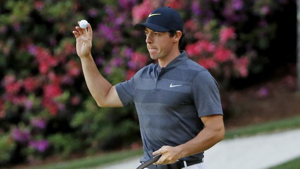 Rory McIlroy was four off the pace after the opening day of the Masters (AP)