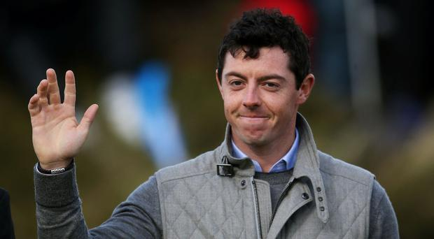 Rory McIlroy is well placed at Augusta